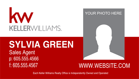 Keller Williams For Sale Business Card: 730-8