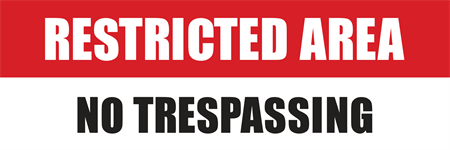 Restricted No Trespassing Parking Sign