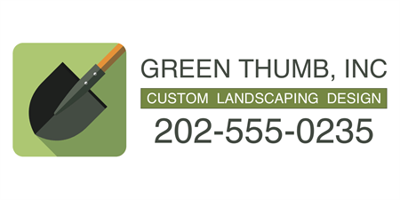 Green Thumb Landscaping Car Magnet: 3422-2