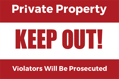 Private Property Window Decal: 937-4