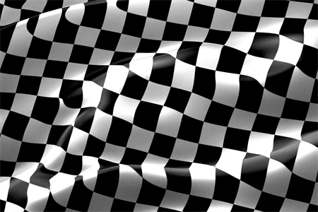 Checkered Race Flag Window Decal: 492-5