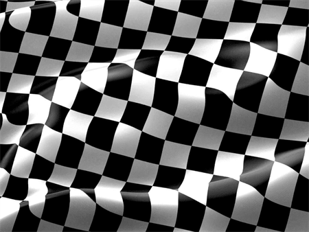Checkered Race Flag Car Magnet: 492-8