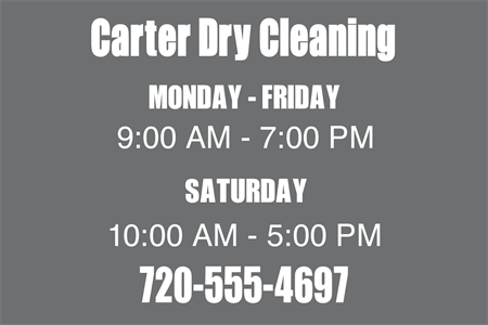 Dry Cleaning Store Lettering
