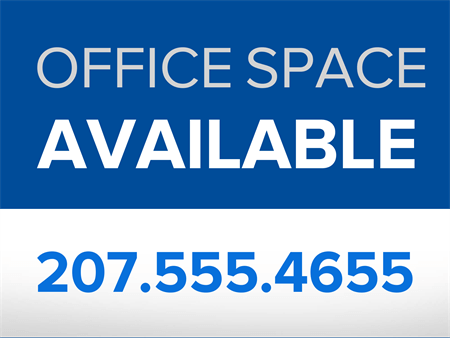 Office Space for Lease Yard Sign: 883-5