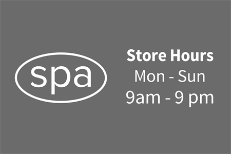 Spa Store Hours Lettering: 2110-4