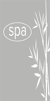 Spa and Bamboo Etched Glass Decal: 2591-3