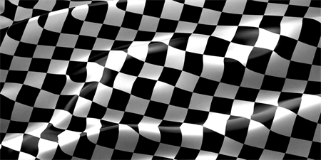 Checkered Race Flag Car Magnet: 492-1