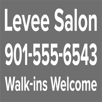 Salon Shop Contact Lettering: 456-2