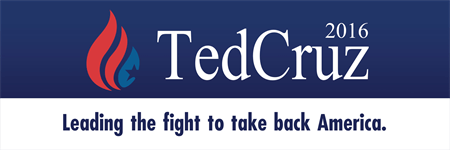 Ted Cruz Candidate Bumper Sticker: 3523-5
