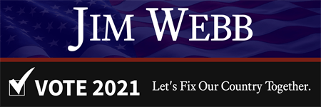 Jim Webb Candidate Bumper Sticker: 3515-5