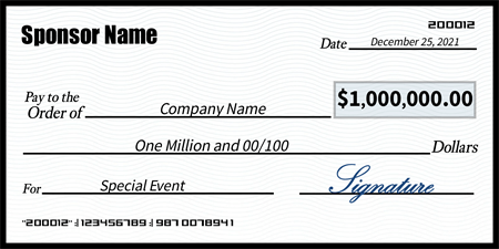 Blue rippled check signazon for Oversized check template