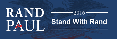Rand Paul Candidate Bumper Sticker: 3520-5
