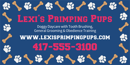 Dog Salon and Daycare Business Card: 560-1