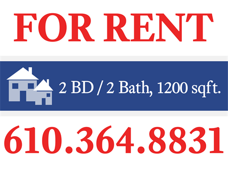 Apartments For Rent Housing Yard Sign: 640-1