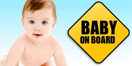 Baby On Board Window Decal: 649-1