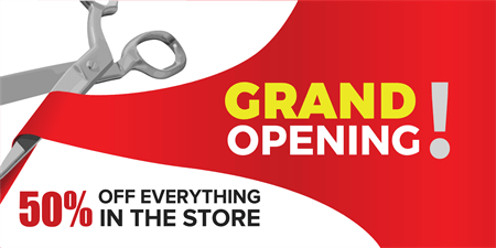 Storefront Grand Opening Banner Signazon