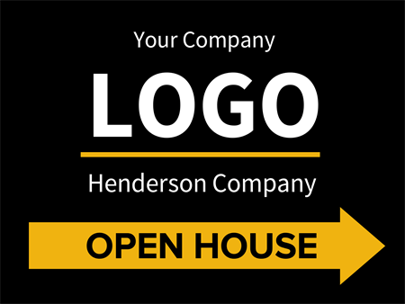 Open House Directional Yard Sign: 689-1