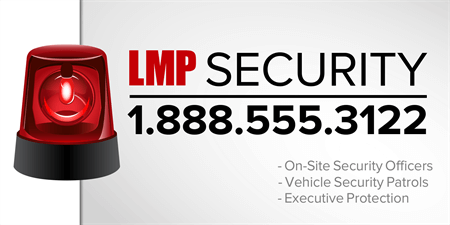 Business Security Service Window Decal: 702-1