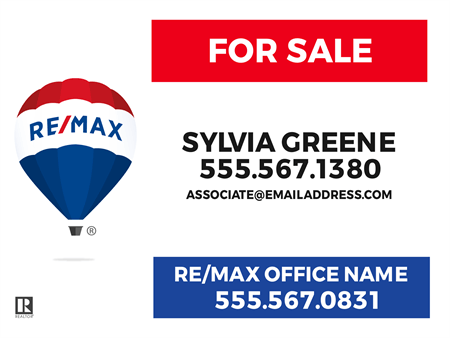 RE/MAX For Sale With Logo Yard Sign
