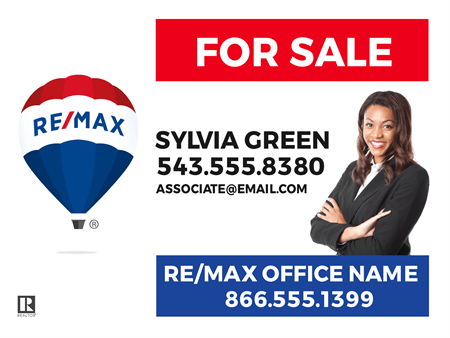 RE/MAX Logo With Agent Photo Yard Sign: 712-1