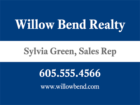 Real Estate Representative Business Card: 723-1